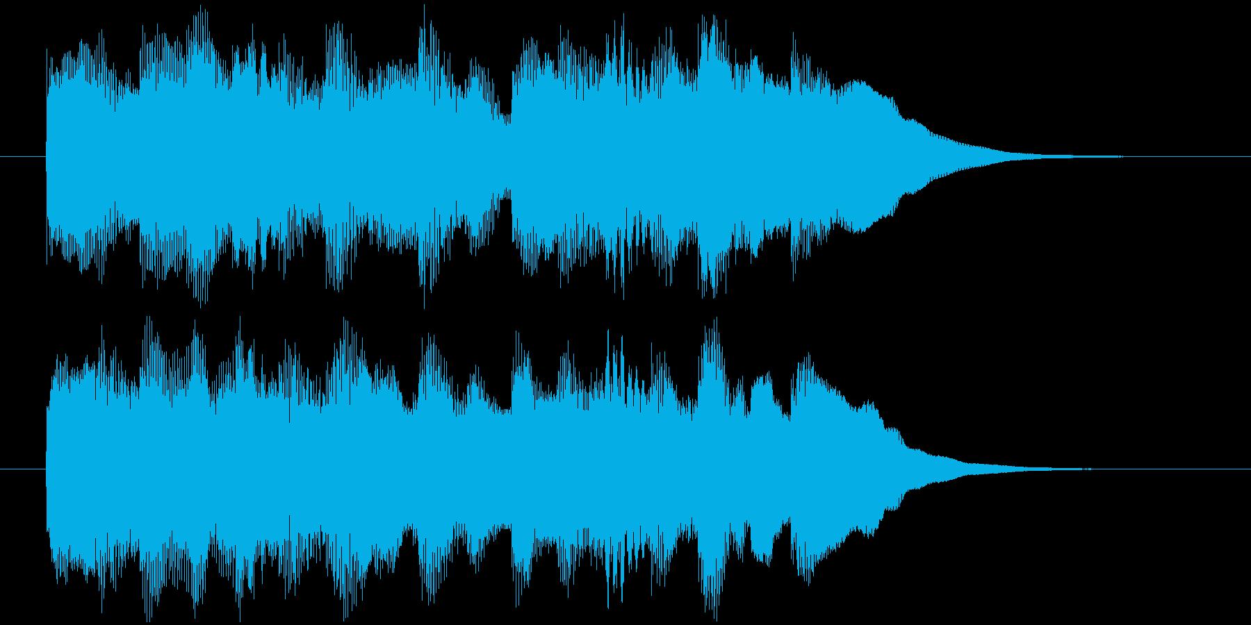 場面転換などに。可愛らしいジングルその4の再生済みの波形