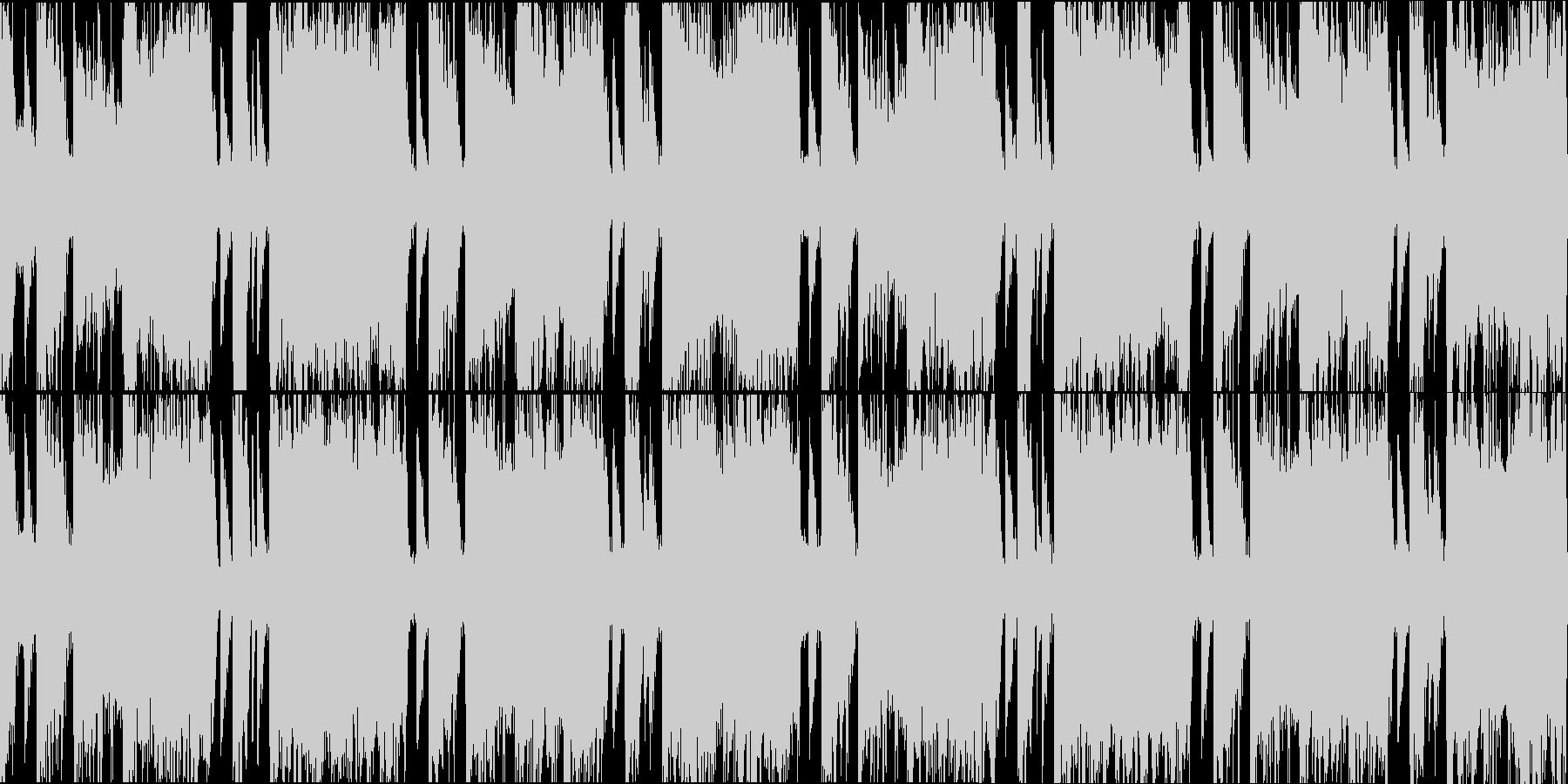 ビッグバンドジャズドラムンベースショートの未再生の波形