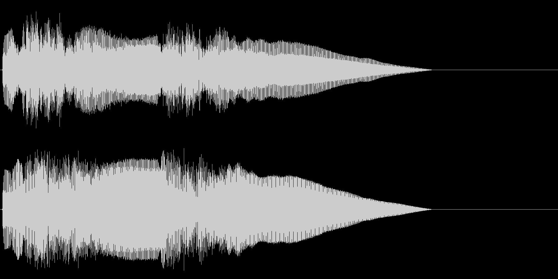 和楽器の法螺貝の王道イメージの未再生の波形