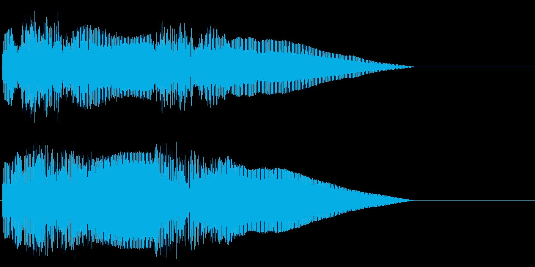 和楽器の法螺貝の王道イメージの再生済みの波形