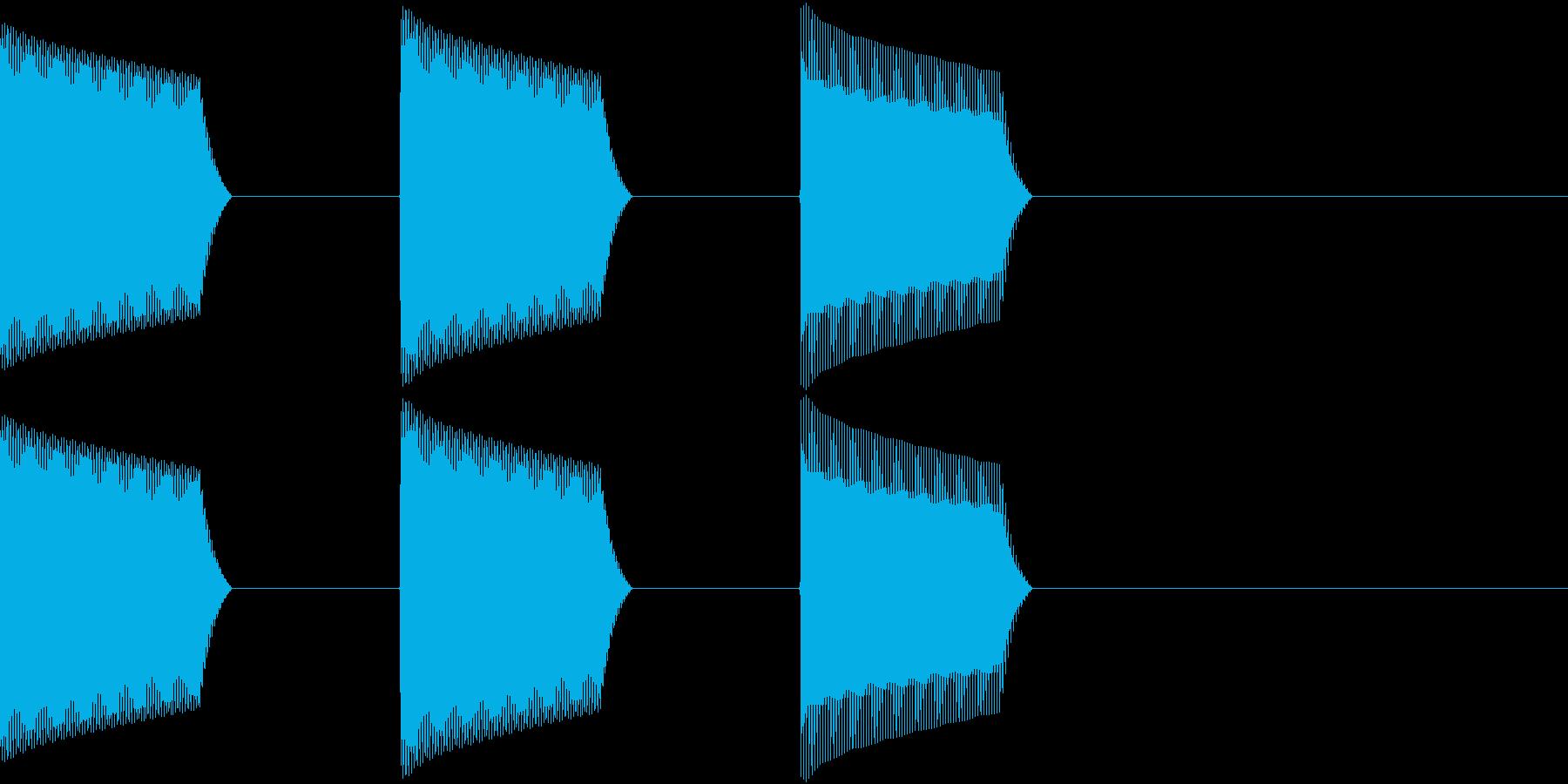 ATM 操作音 7の再生済みの波形
