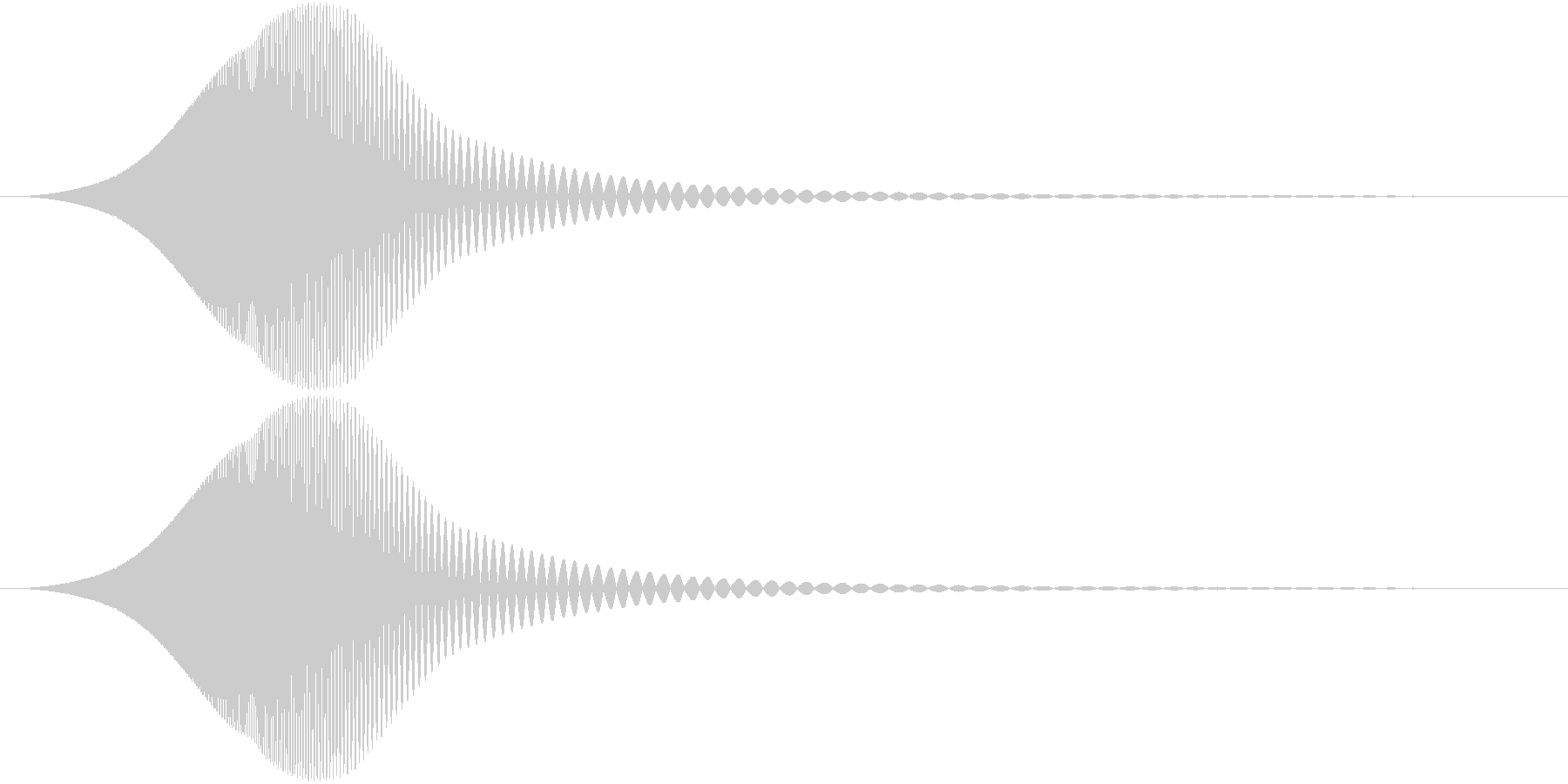 Comm ピチョンと可愛い電子音 単発の未再生の波形