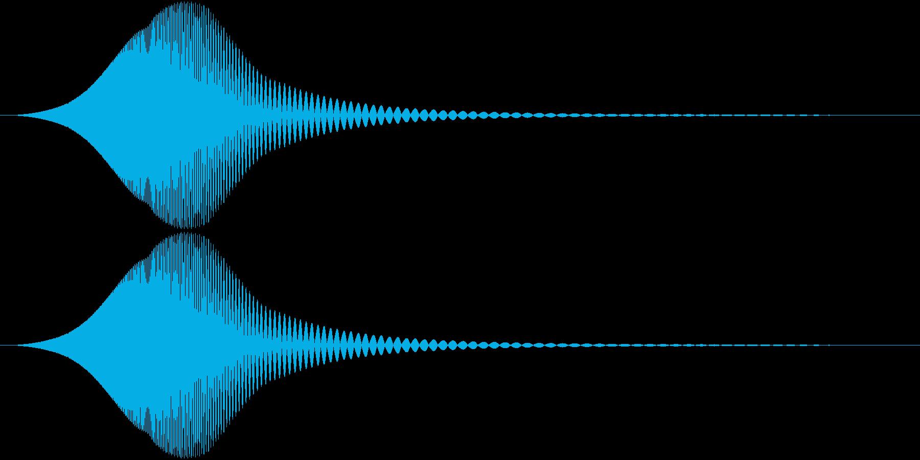 Comm ピチョンと可愛い電子音 単発の再生済みの波形