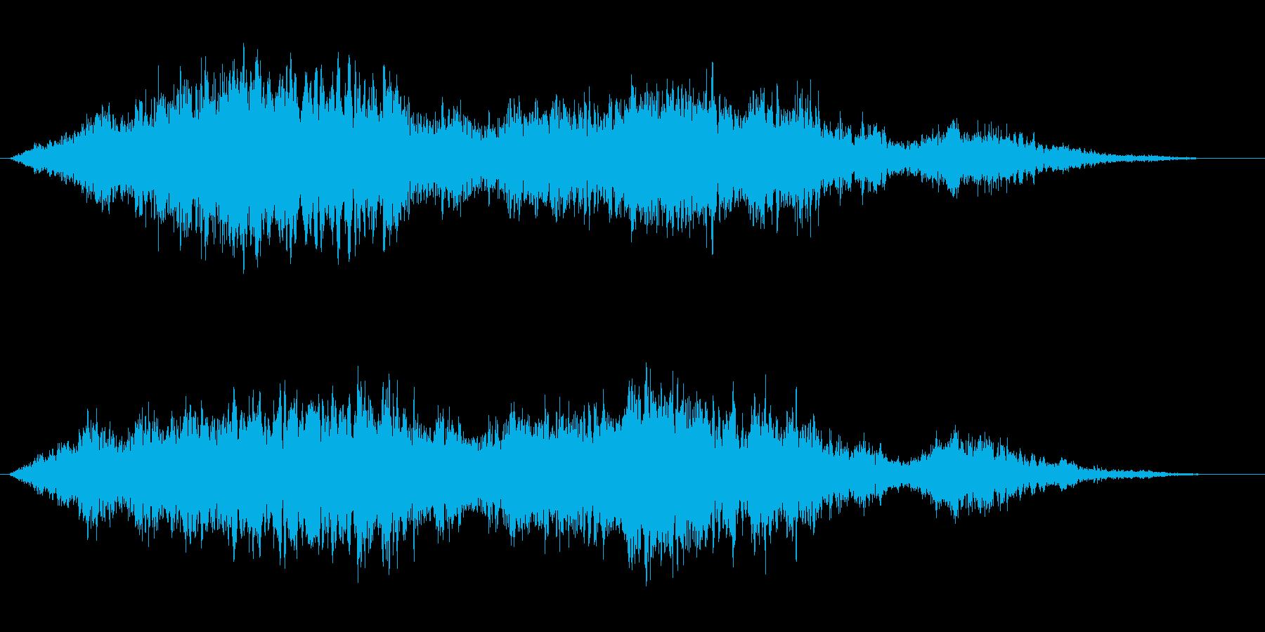 不気味な【空襲警報音】「ウー」の再生済みの波形