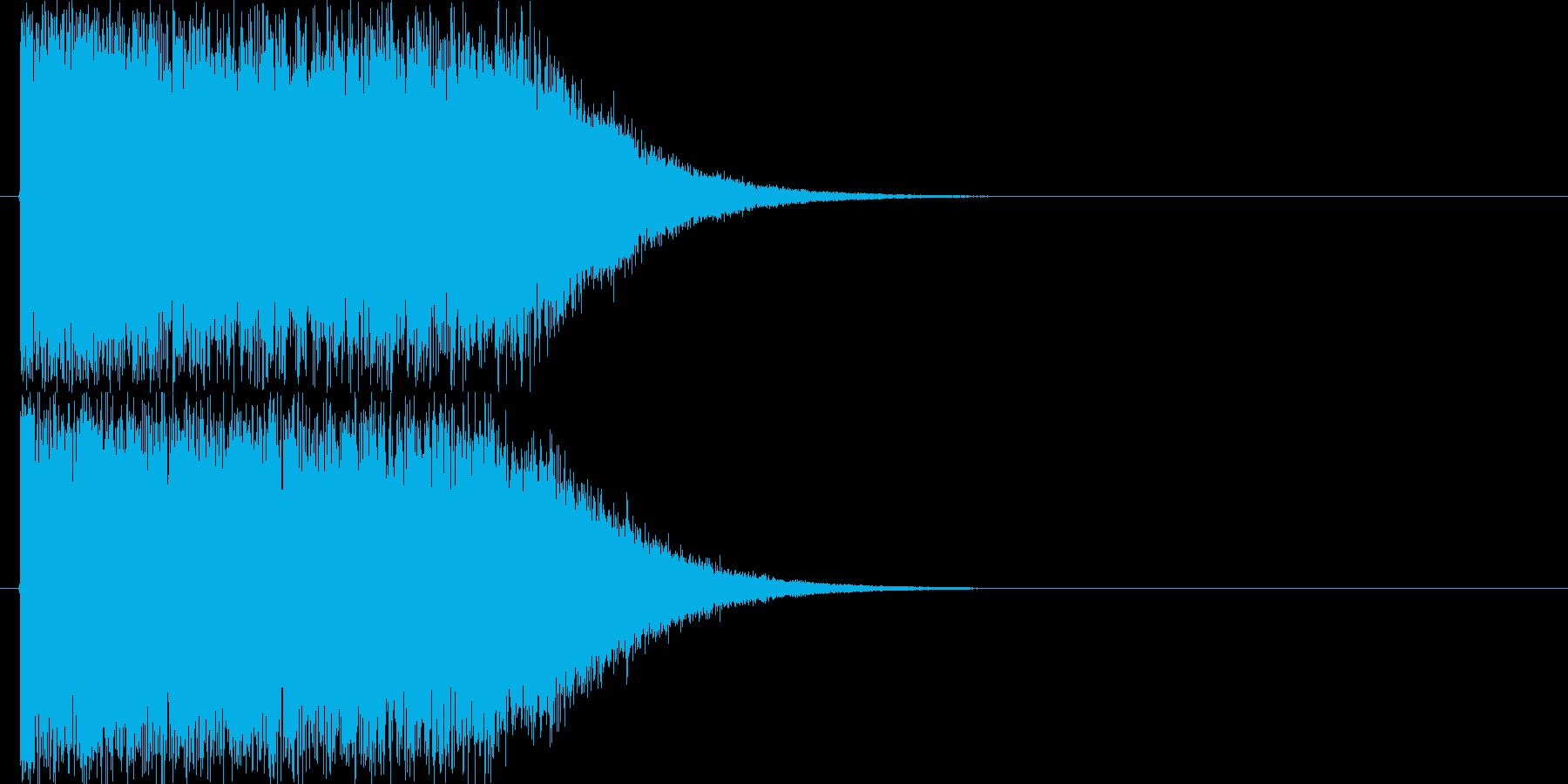 インパクト_魔法攻撃の再生済みの波形