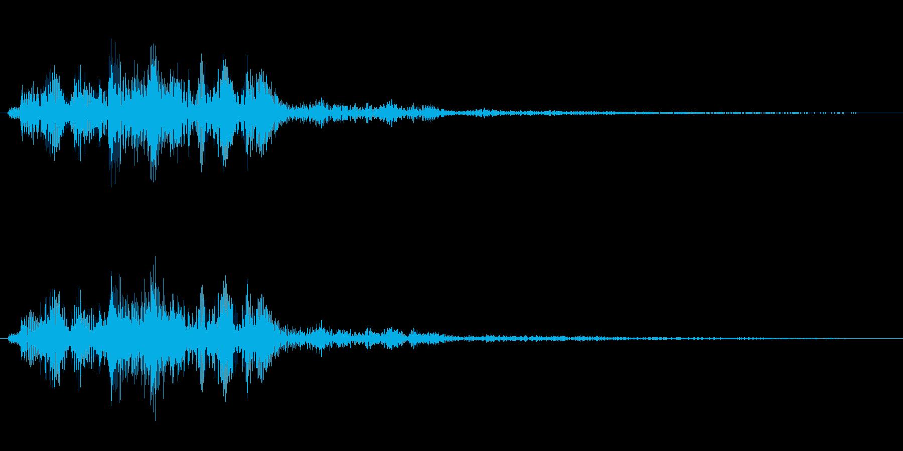 決定音(サイバー感のある音)の再生済みの波形