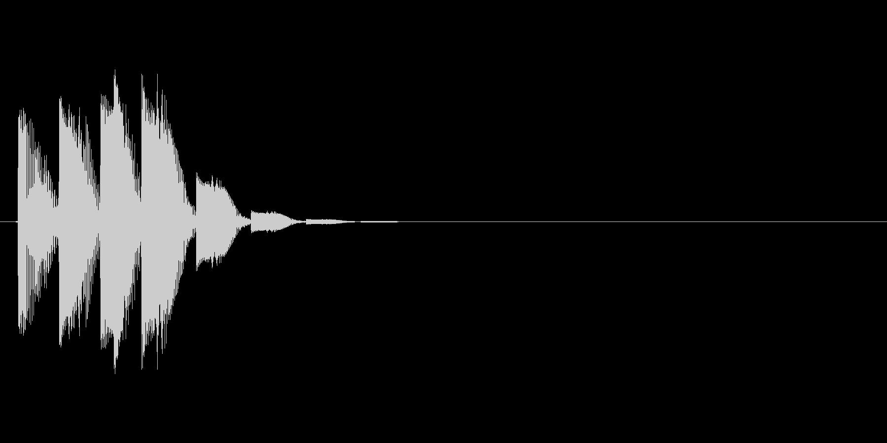 チャララッ↑(ポップな雰囲気、決定音)の未再生の波形