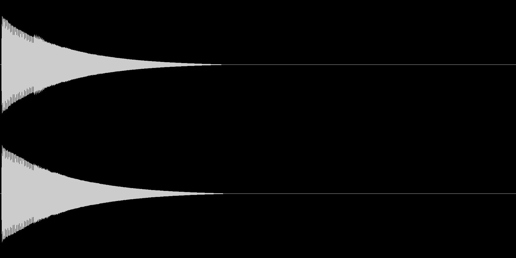ピローン、ピコーンといった効果音「ファ」の未再生の波形