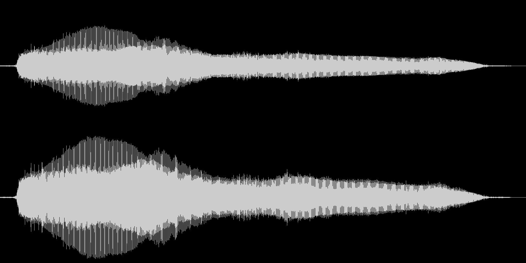 猫の鳴き声(ニャー)の未再生の波形