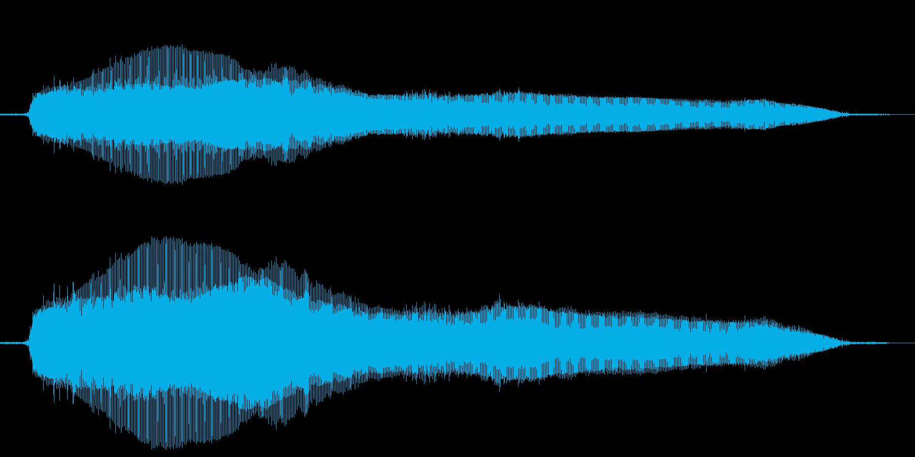 猫の鳴き声(ニャー)の再生済みの波形