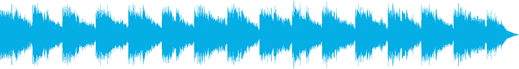 ファンタジーRPGで使えるBGMの再生済みの波形
