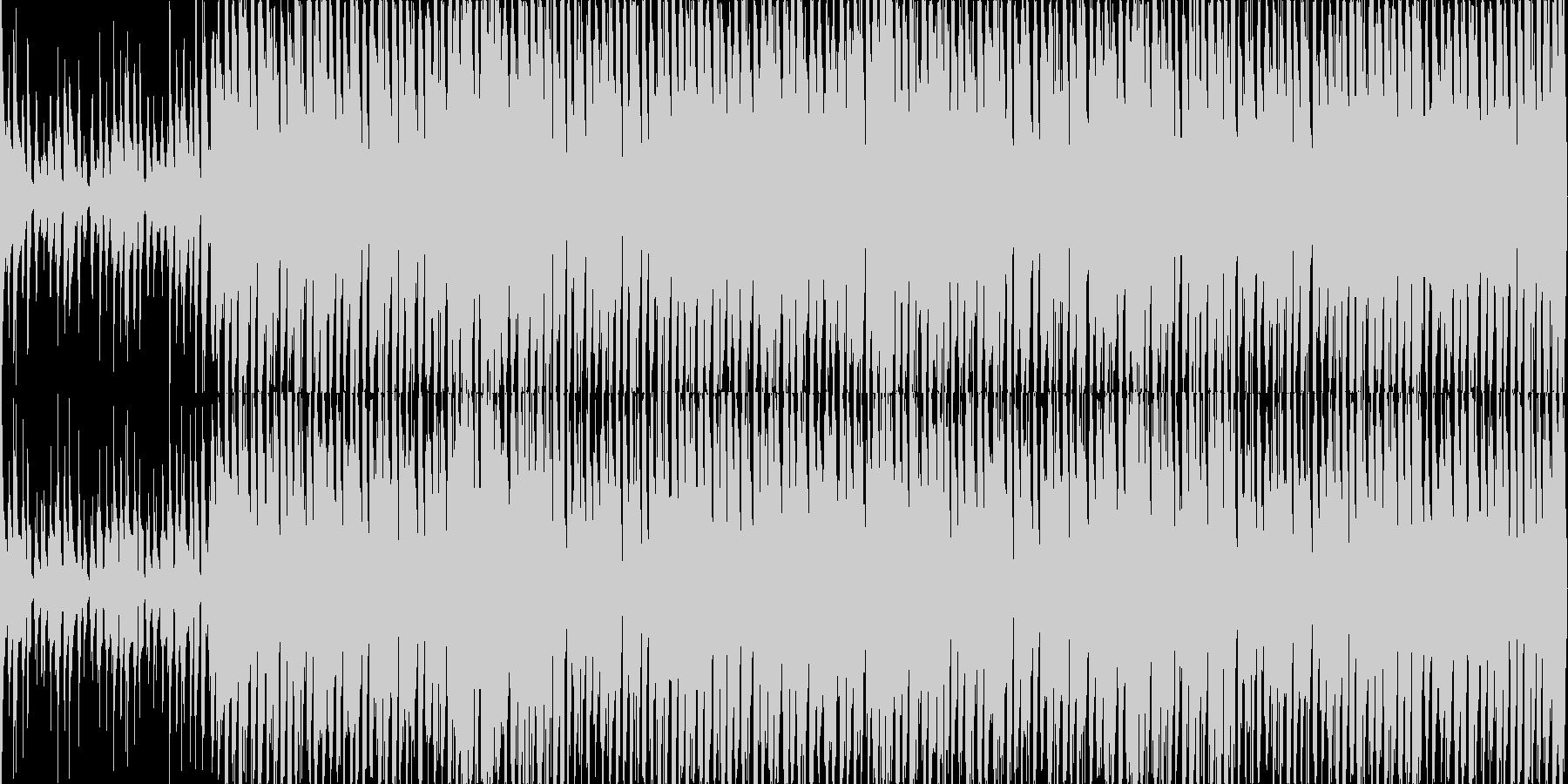 リズミカルで陽気なウクレレとピアノの未再生の波形