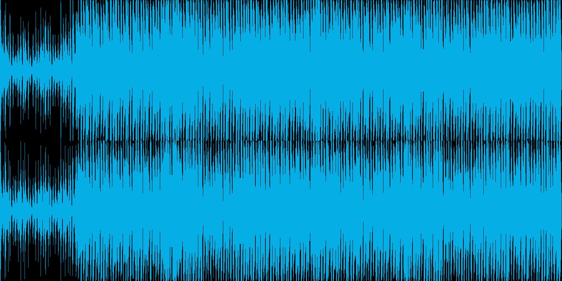 リズミカルで陽気なウクレレとピアノの再生済みの波形
