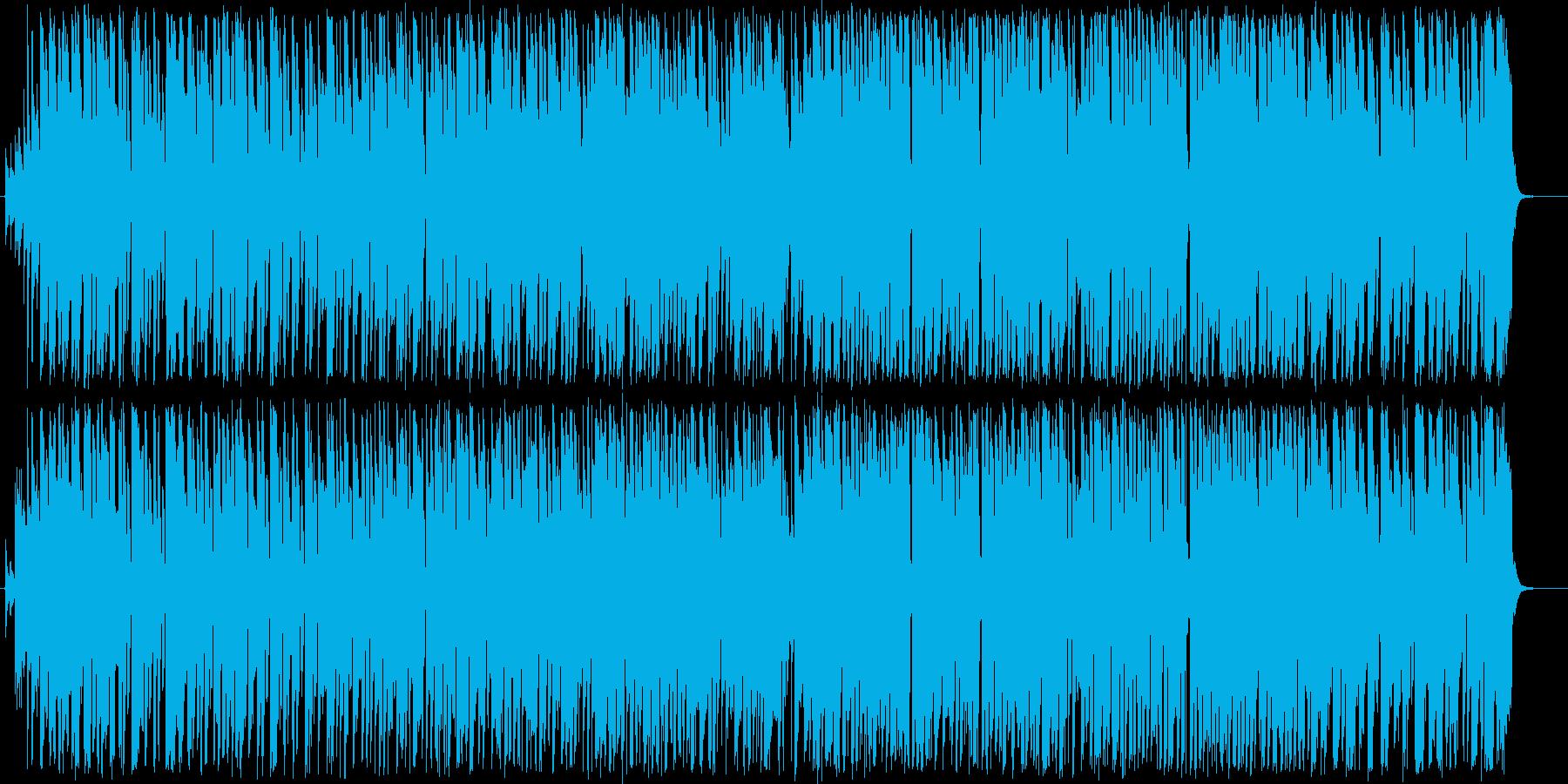 テケテケ風エレキギターインストの再生済みの波形