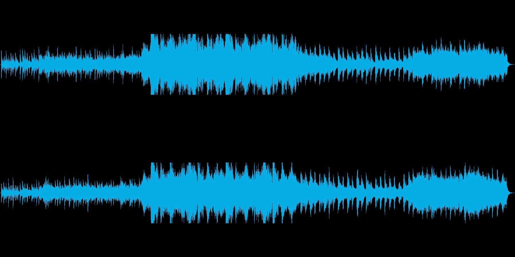 緩急のある幻想的で神秘的なオーケストラの再生済みの波形