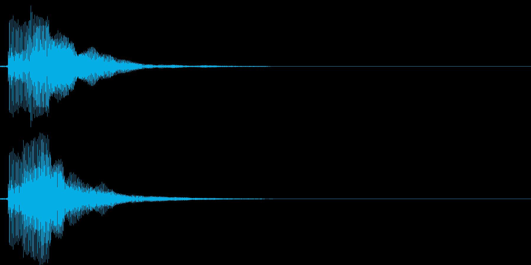 ピ!8bit系の決定/ボタン/クリック1の再生済みの波形