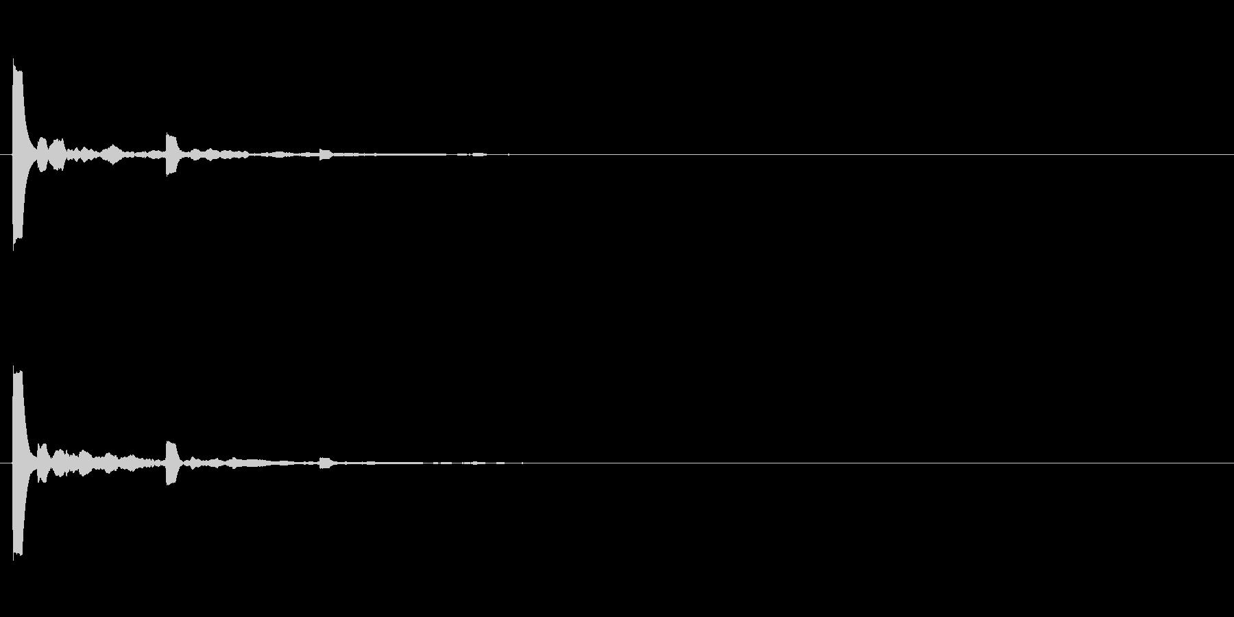 【アクセント03-2】の未再生の波形