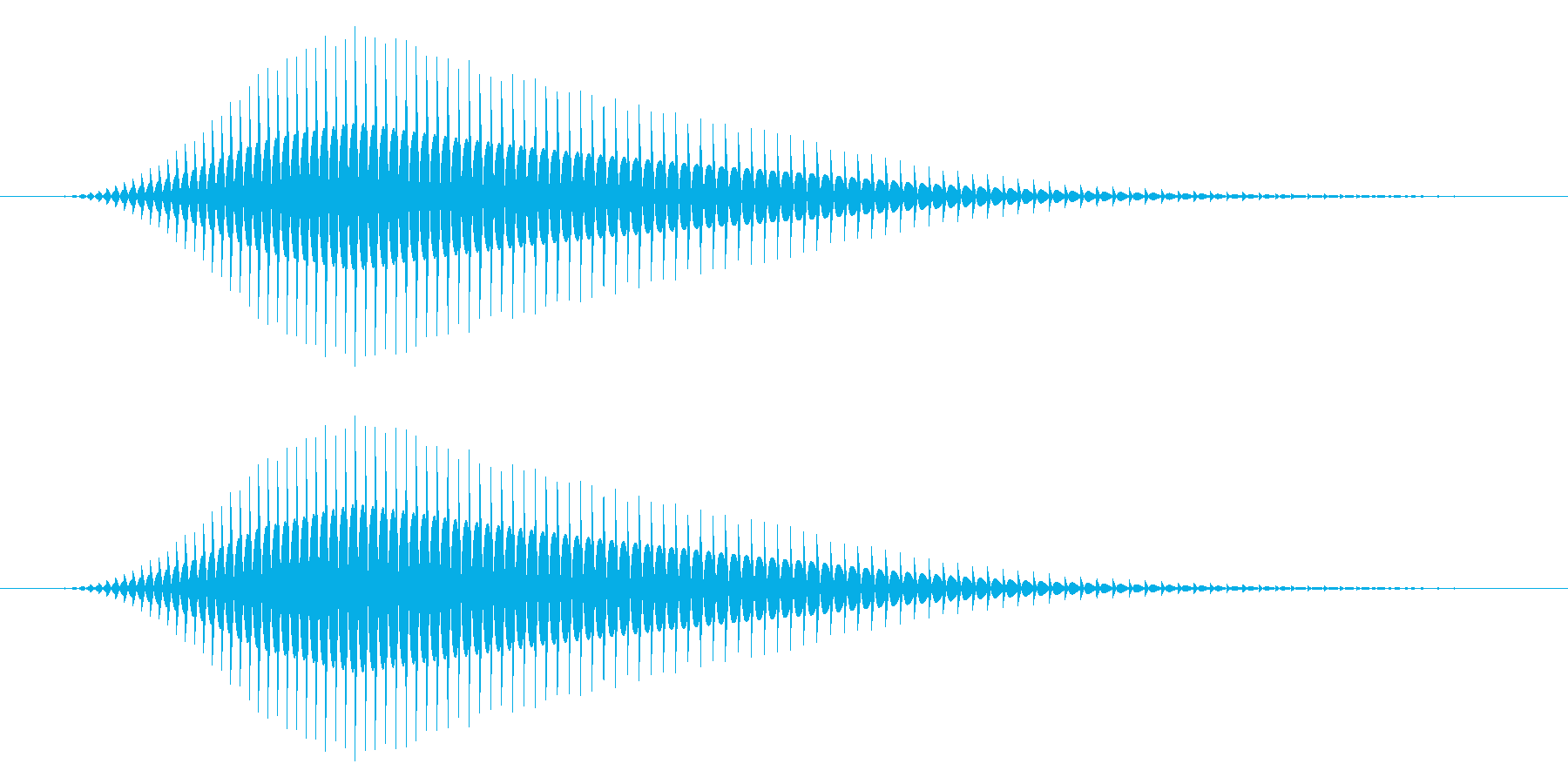 パソコン/キャンセル音/ヒュン↓の再生済みの波形