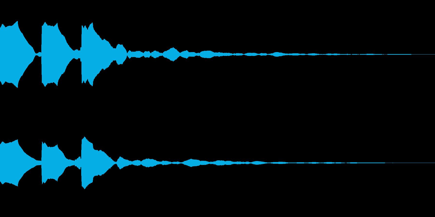警告音(ピンピンピン)の再生済みの波形