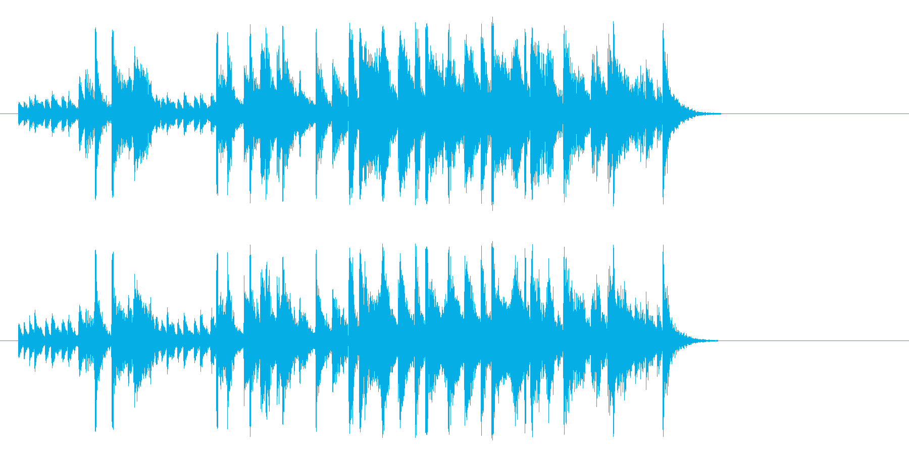 ほのぼのしたポップジャズ(イントロ)の再生済みの波形