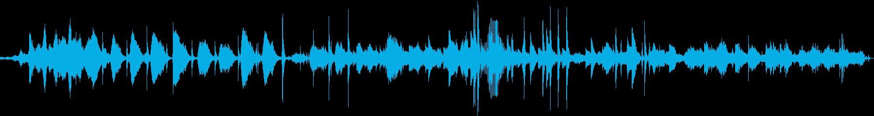 8分続く恐ろしく不気味な曲の再生済みの波形