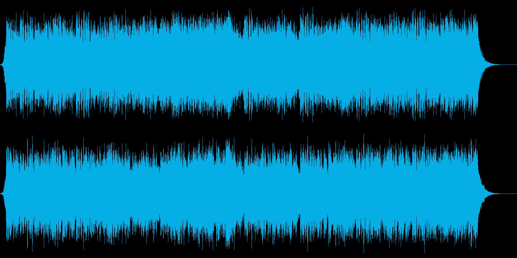 勝利を叫ぶハリウッド系オーケストラの再生済みの波形