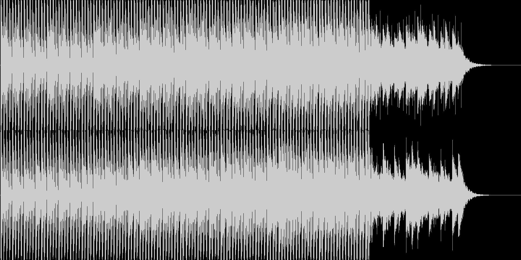 爽やかな空のイメージのBGMの未再生の波形