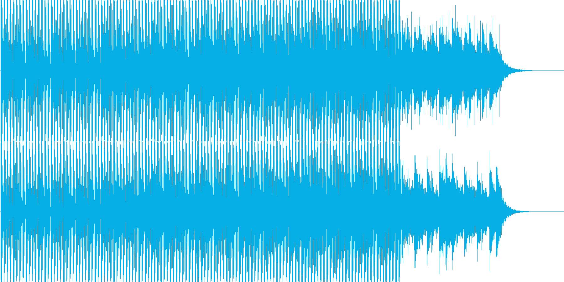 爽やかな空のイメージのBGMの再生済みの波形