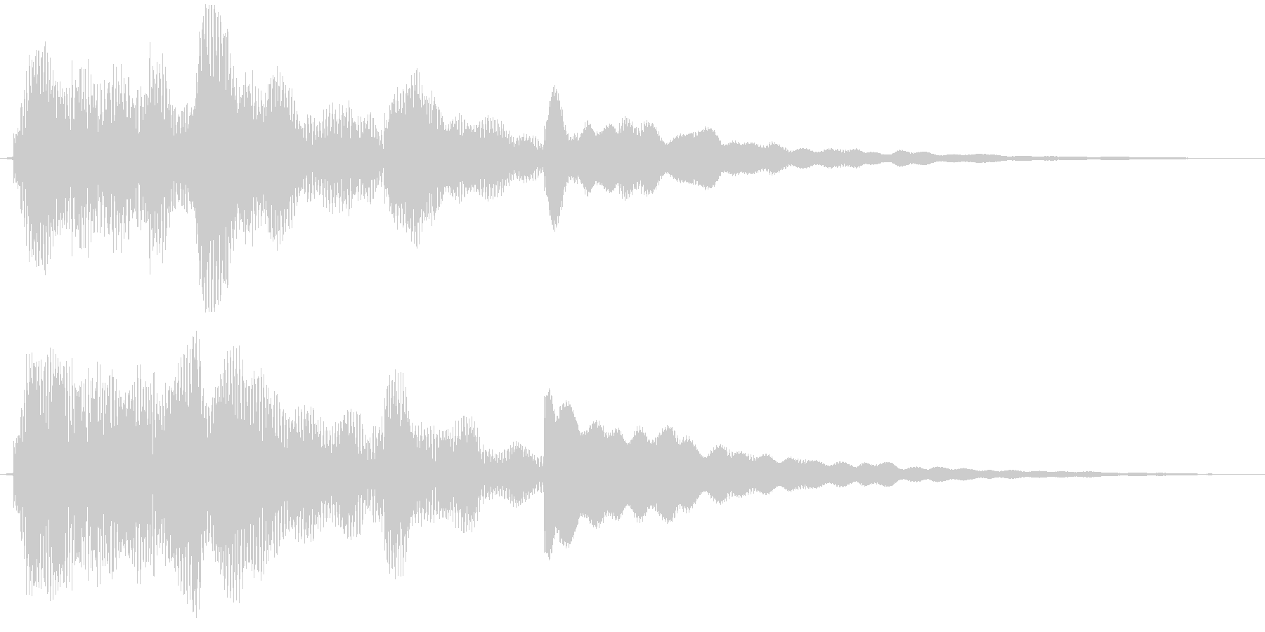 エレピによる幻想的ジングルの未再生の波形