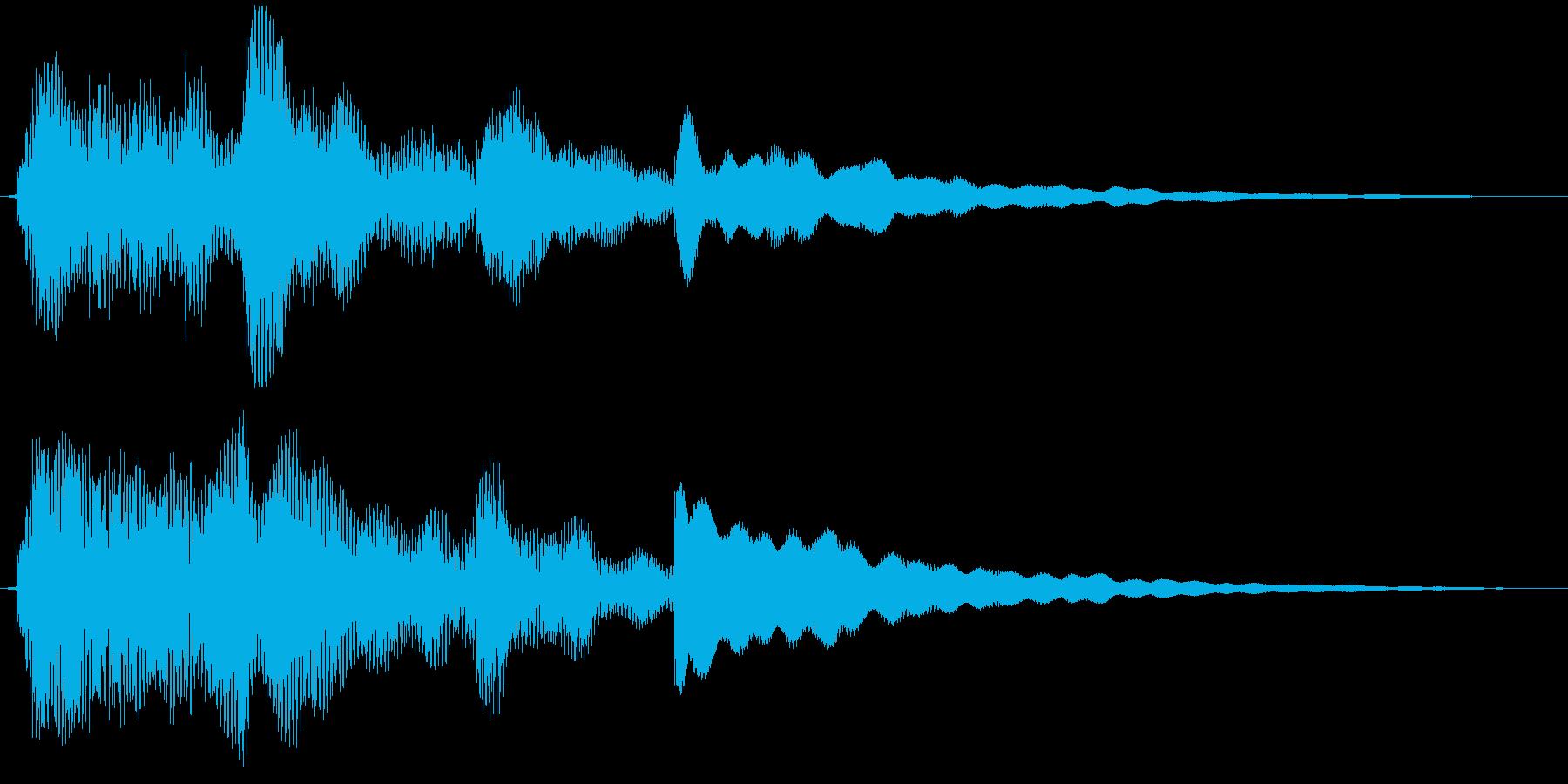 エレピによる幻想的ジングルの再生済みの波形