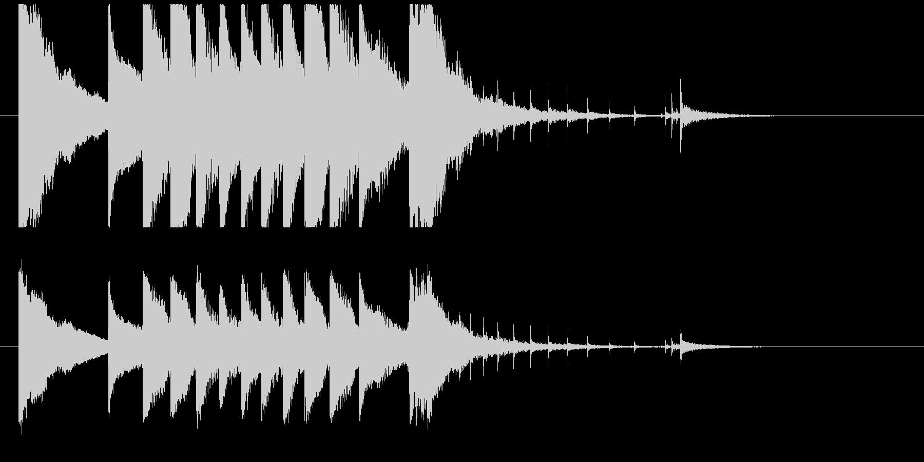 聞き馴染みのある和風・正月系ロゴ(E)の未再生の波形