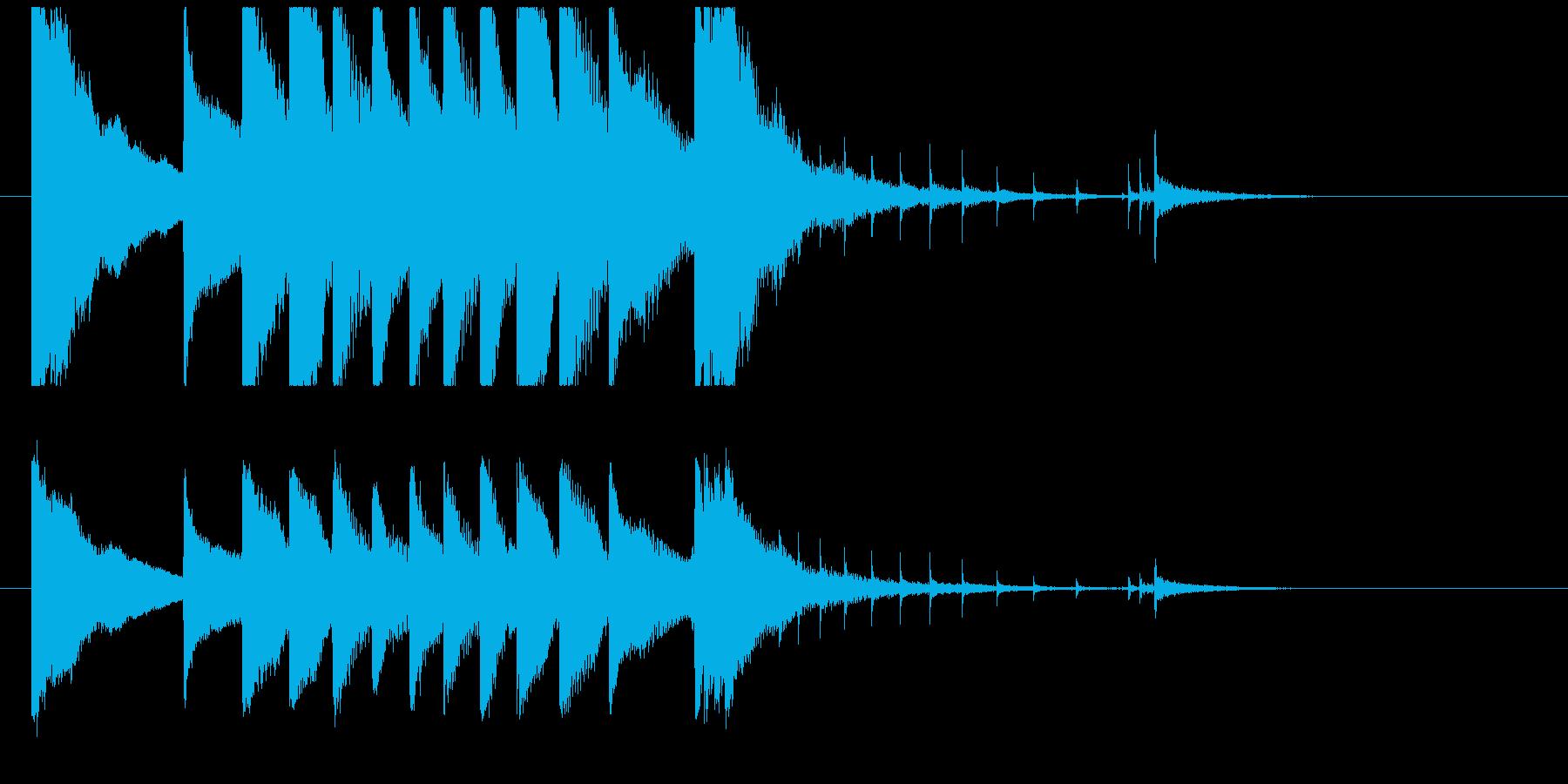 聞き馴染みのある和風・正月系ロゴ(E)の再生済みの波形