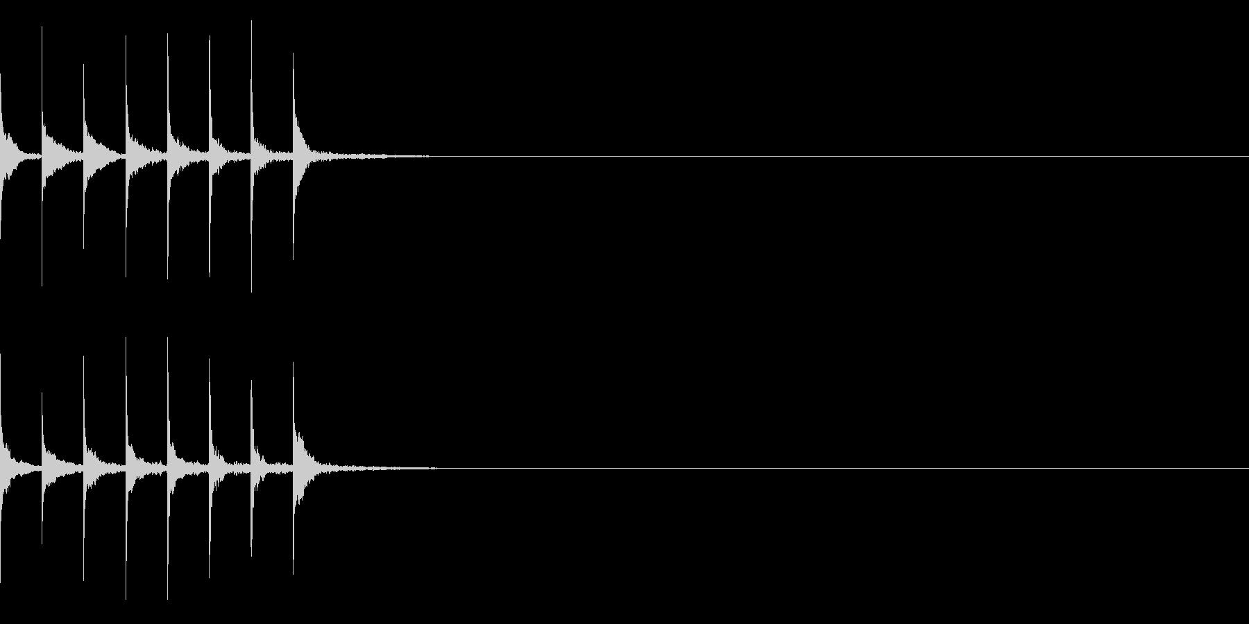 ピリリリリリリリの未再生の波形