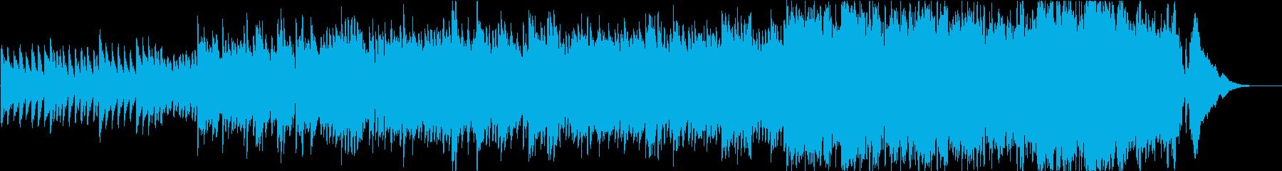 温かい気持ちに優しく包まれるようなBGMの再生済みの波形