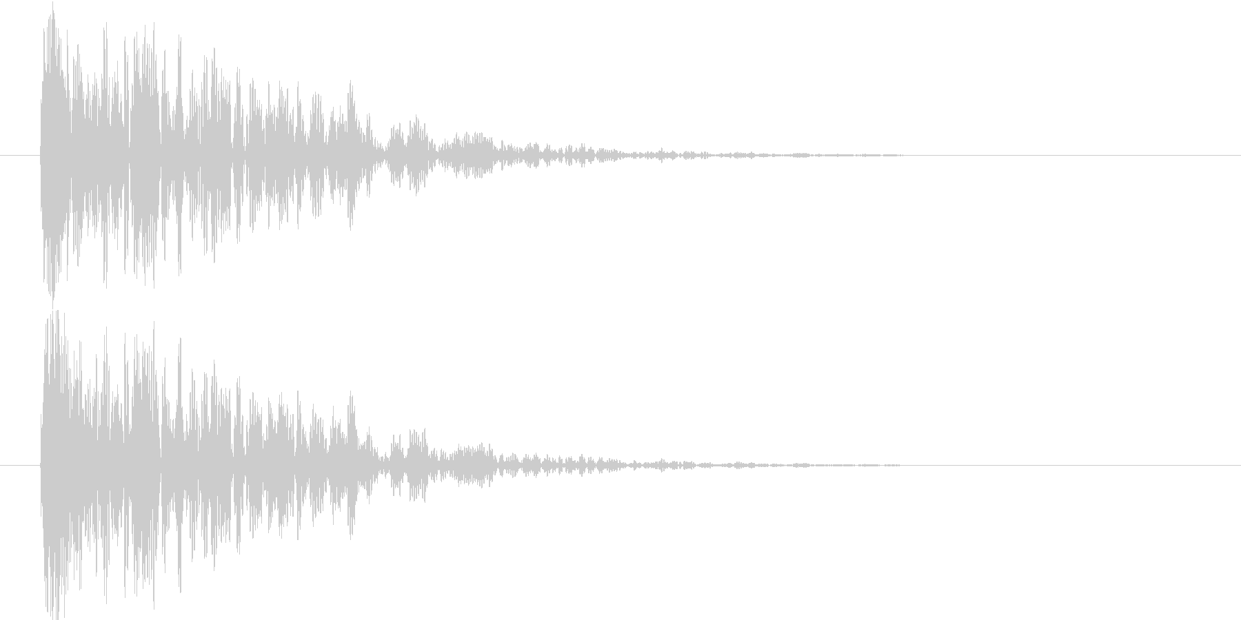 余韻短め 中規模な爆発音の未再生の波形
