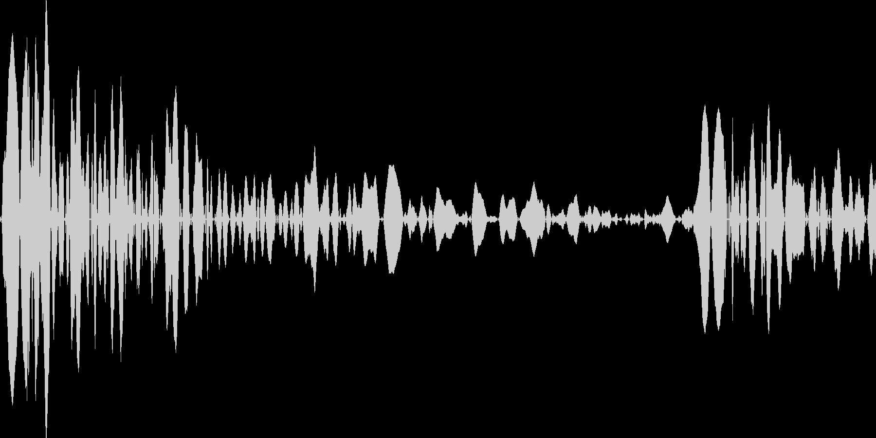 麻雀 打つ音の未再生の波形