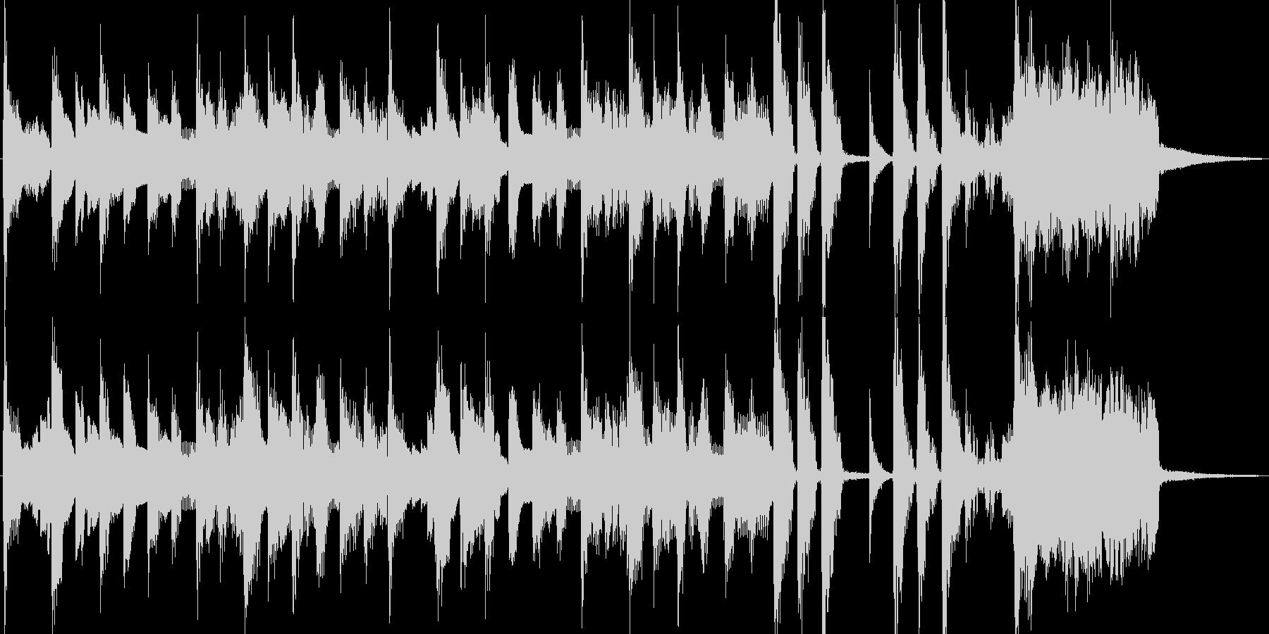 電気ピアノの楽しいポップスジングルの未再生の波形