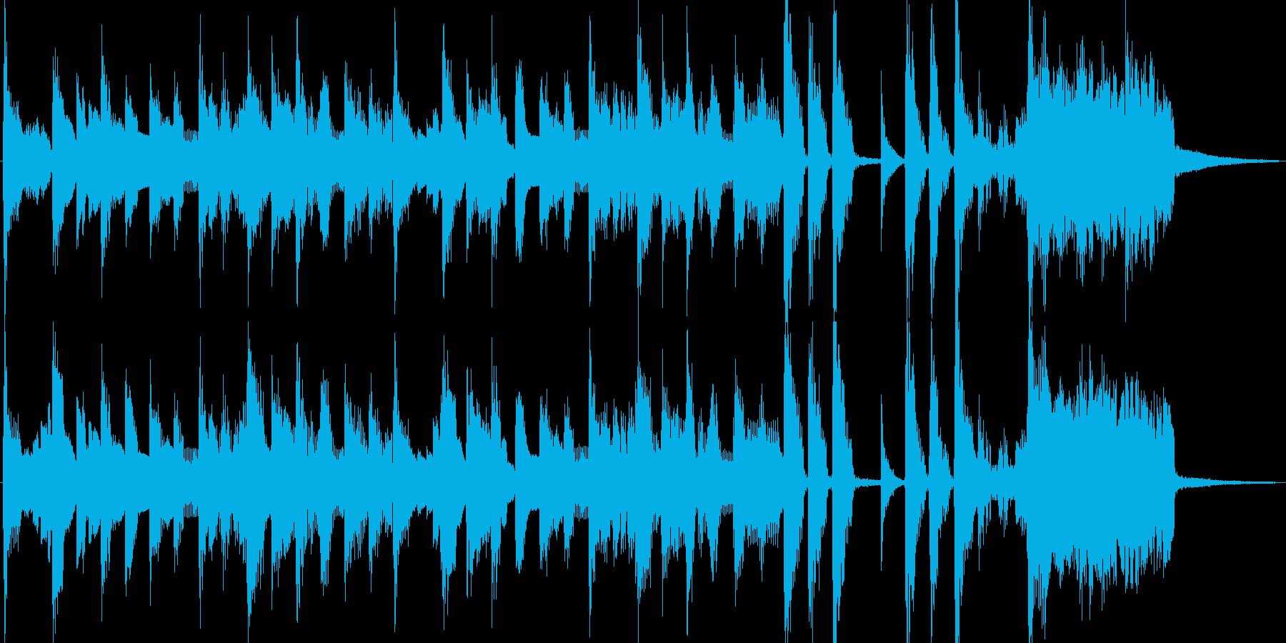 電気ピアノの楽しいポップスジングルの再生済みの波形