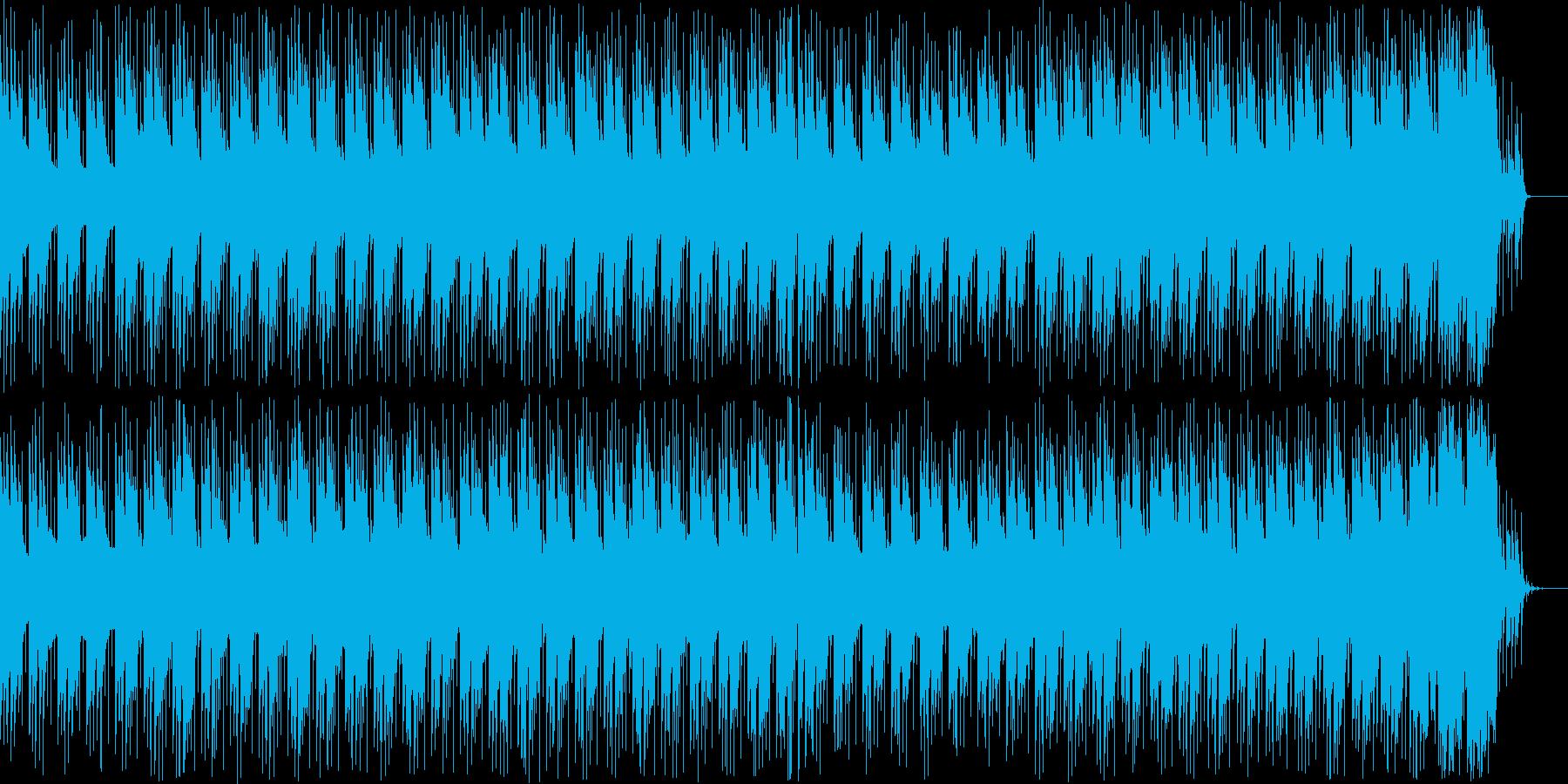 重たい、ダークなリズム隊重視のBGMの再生済みの波形