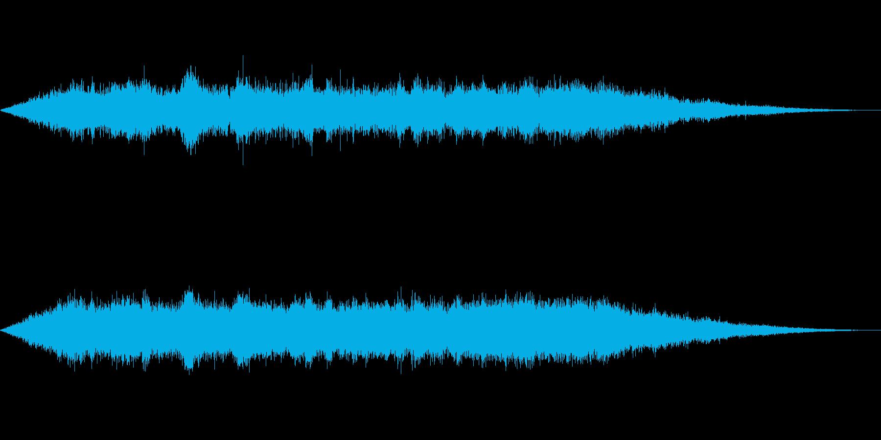 海 波 浜辺 海岸 カモメ等の環境音09の再生済みの波形