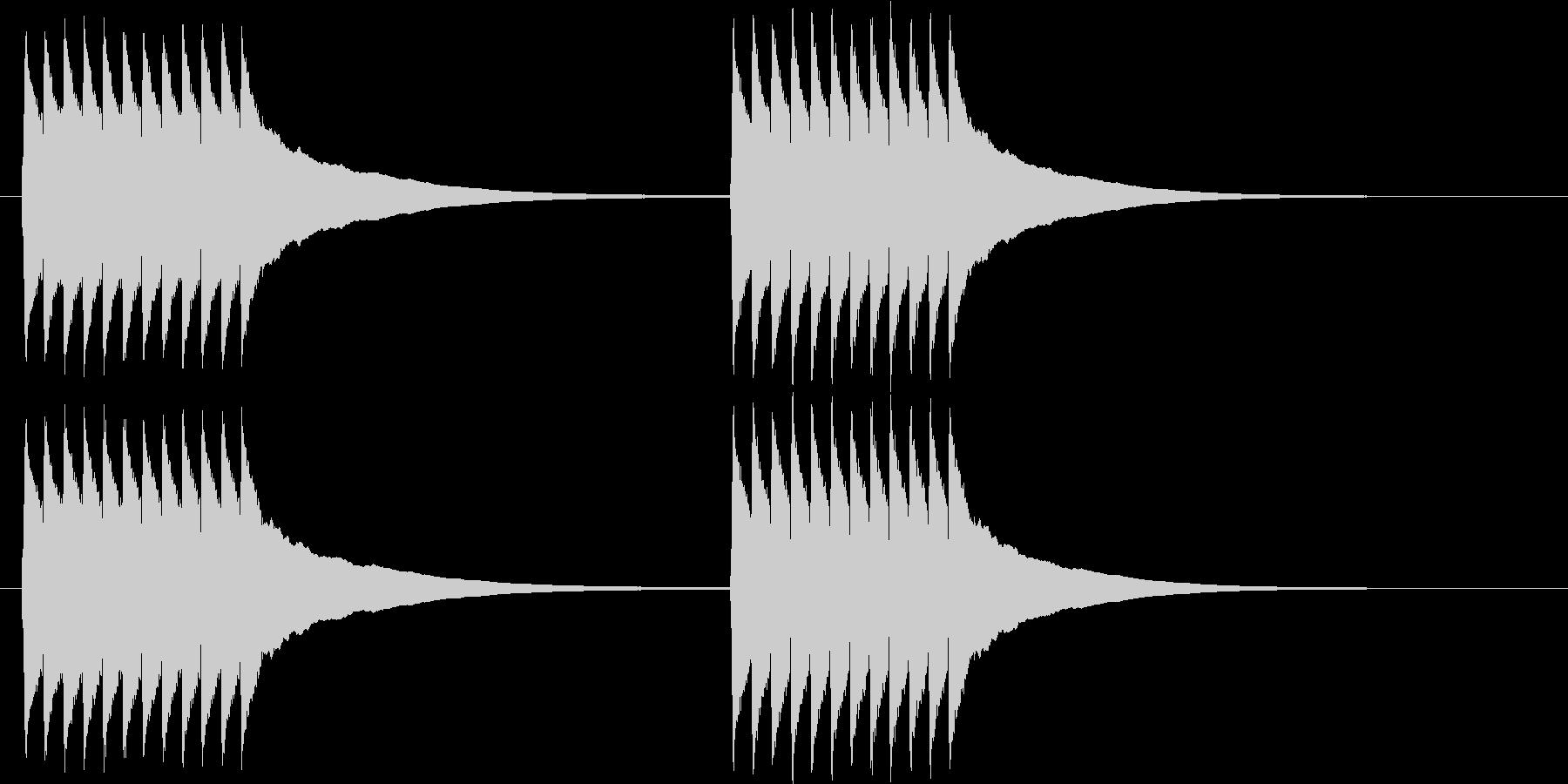チリリ..。黒電話のベルA(短め)の未再生の波形