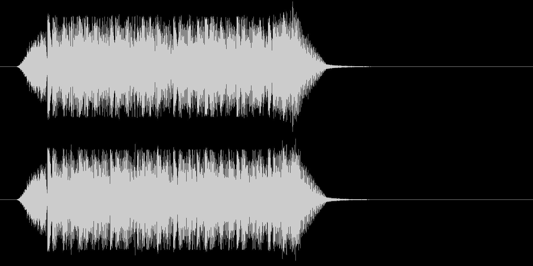サイバー風ミステリアスジングル(ショートの未再生の波形