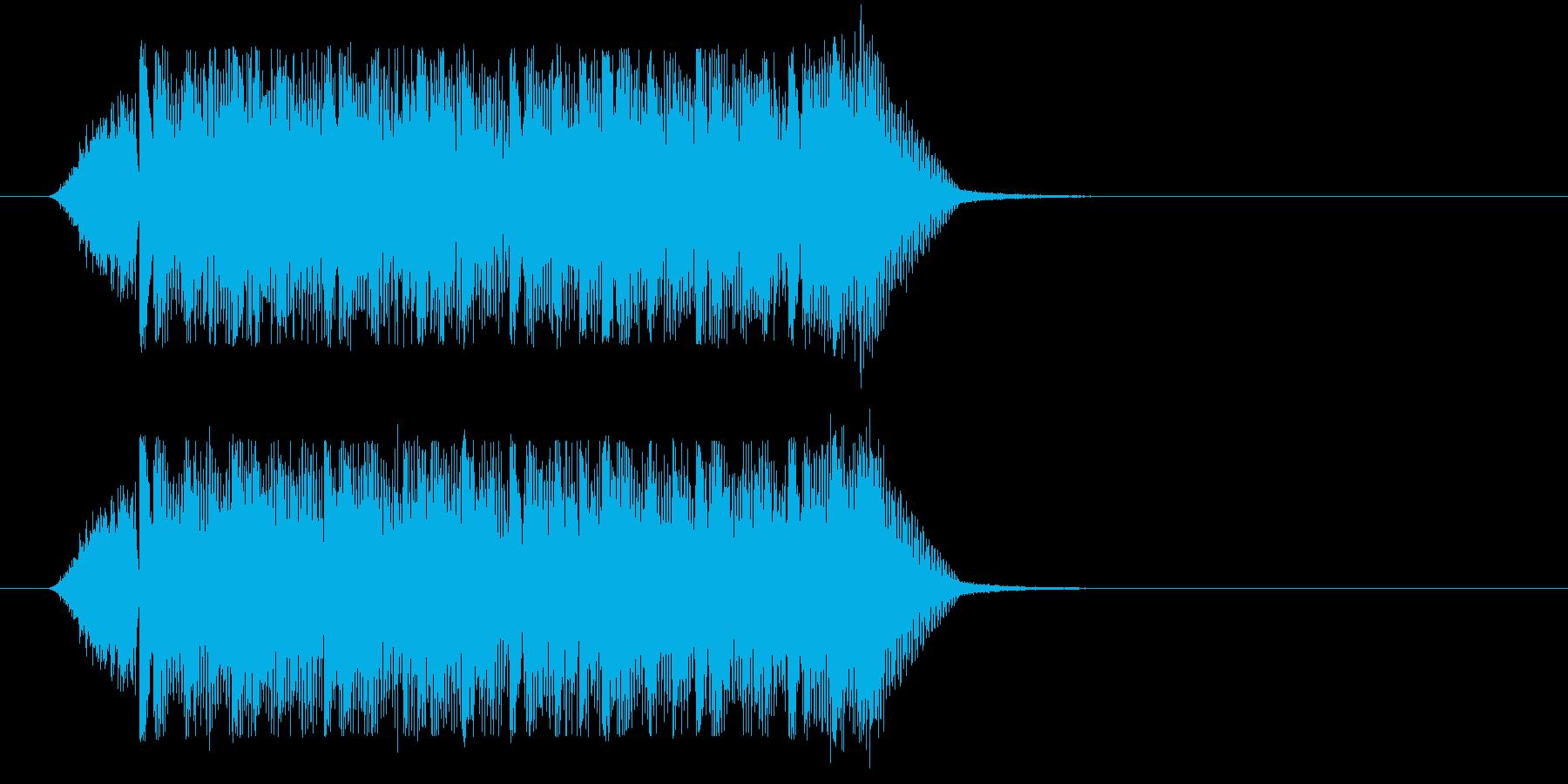 サイバー風ミステリアスジングル(ショートの再生済みの波形