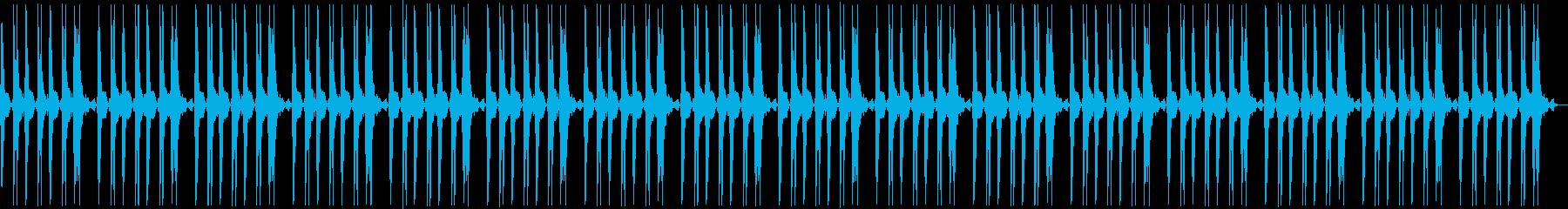 パンチやキックのループの再生済みの波形