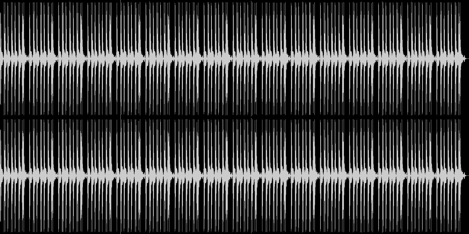 パンチやキックのループの未再生の波形