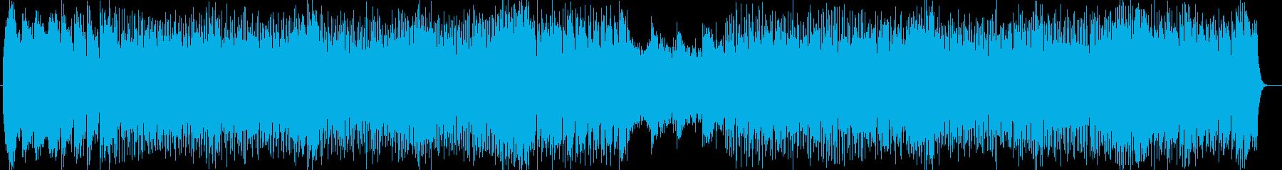 アップテンポミュージックの再生済みの波形