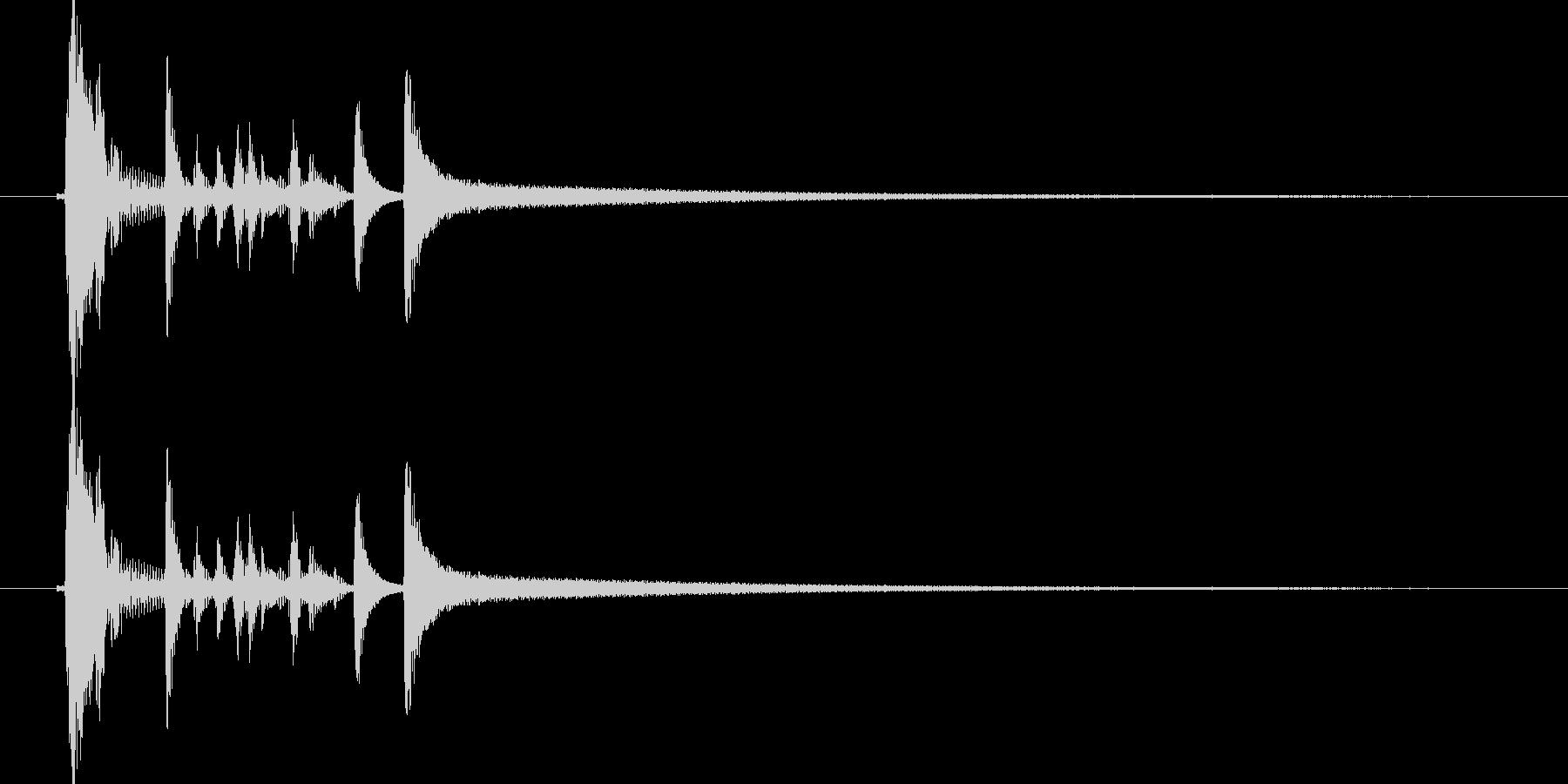 スタイリッシュなアコギのジングル1の未再生の波形