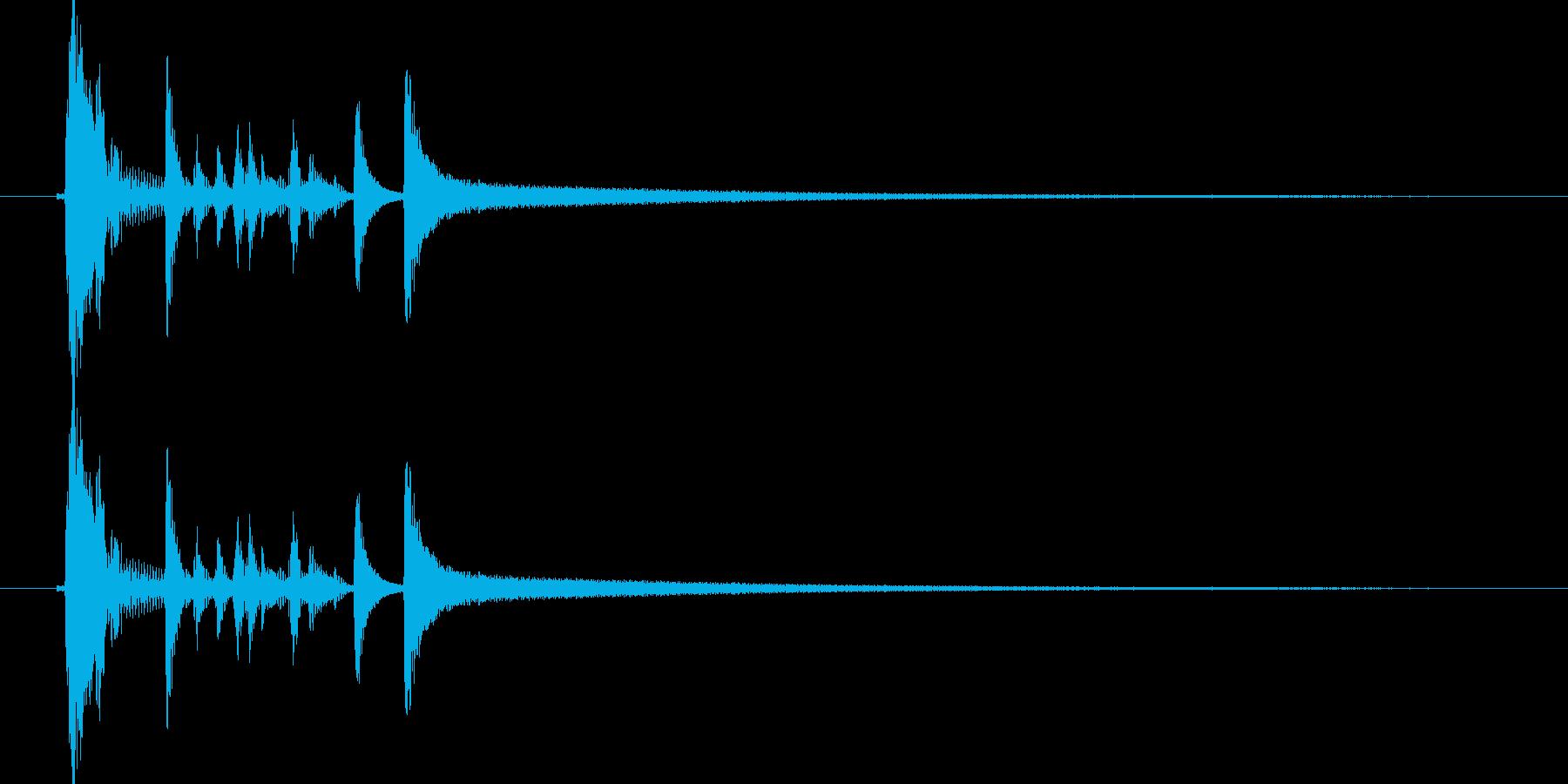 スタイリッシュなアコギのジングル1の再生済みの波形