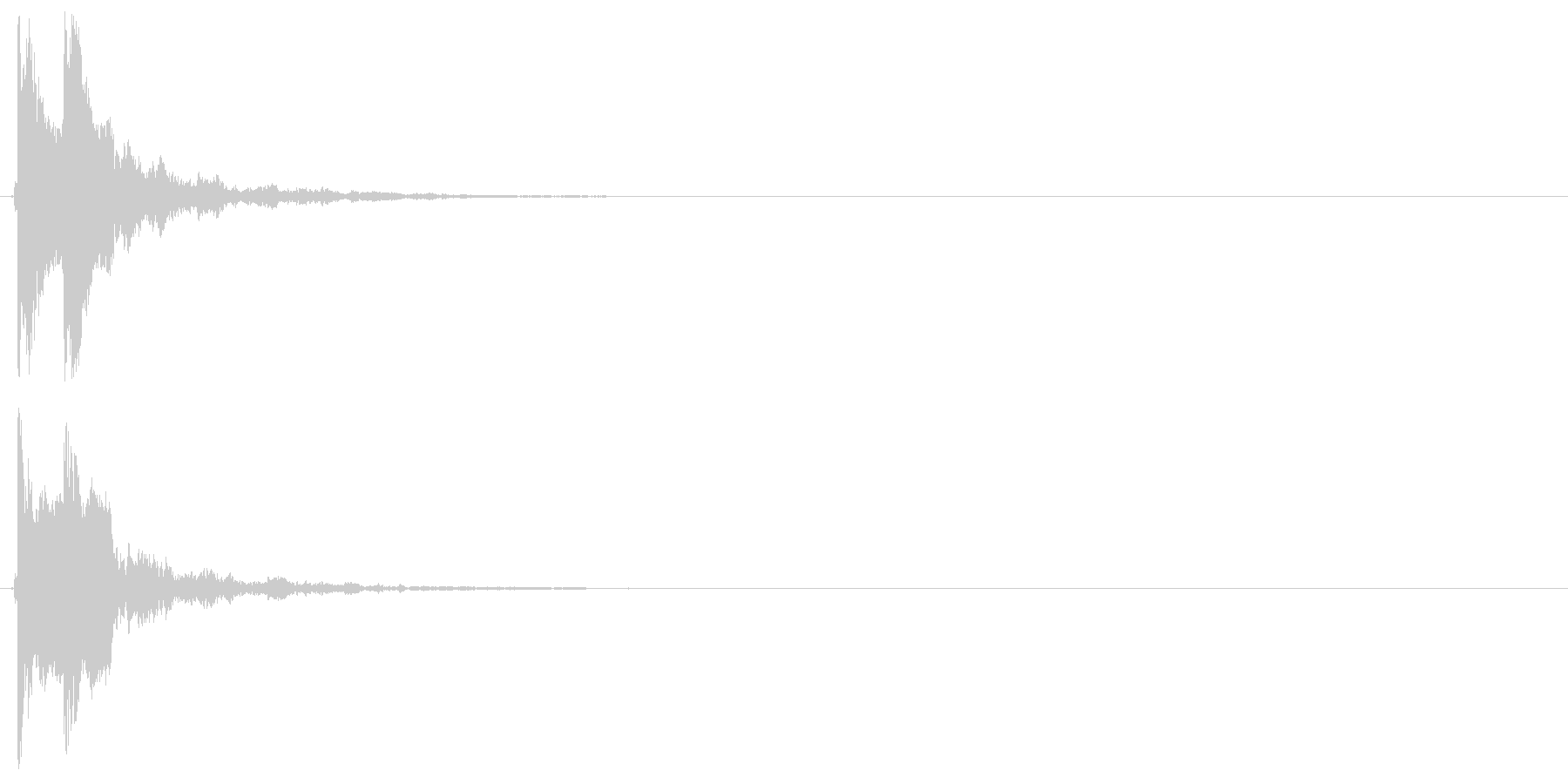 ポポン(鼓、和風)の未再生の波形