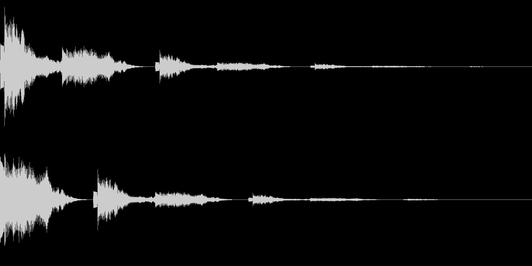 ポンッポコ(クリック_選択決定_05)の未再生の波形